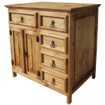 Mexican Rustic Pine Sink Cabinet