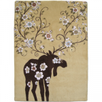 Moose Blossom Natural Rug - 8 x 11