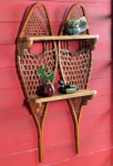 Vintage Snowshoe Wall Shelf