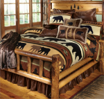 Black Bear River Plush Blanket - King