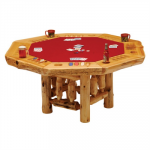 Cedar Poker Table w/ Log Base