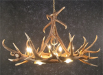 Elk Six Antler Chandelier w/ 3 Down Lights - SALE