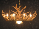 Whitetail 12 Antler Cascade Chandelier w/Downlight - SALE