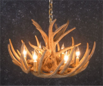 Whitetail 9 Antler Cascade Chandelier - SALE
