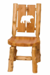Log Cut-Out Side Chair - Bear