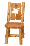 Log Cut-Out Side Chair - Moose