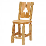 Log Cut-Out Side Chair - Pine Tree