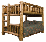 Full/Queen (Ladder Left) Log Bunk Bed