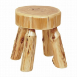 Cedar Log Foot Stool