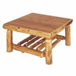 Cedar Log Open Standard Finish Coffee Table - 34 x 34