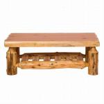 Cedar Log Open Standard Finish Coffee Table - 24 x 60