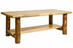 Glacier Coffee Table with Shelf