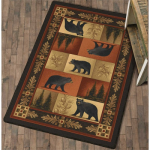 Grand Repose Black Bear Rug - 3 x 4