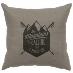 Gray Mountains are Calling Pillow