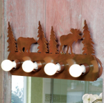 Moose & Bear Vanity Light Fixture - 4 Light