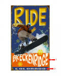 Snowboard Ride Sign
