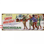 Snow Holiday Sign - 17 x 44