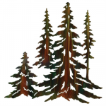 Pine Tree Stand Wall Art