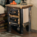 Aspen Log Nightstand