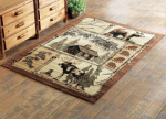 Moose & Bear Nature Rug - 4 x 5