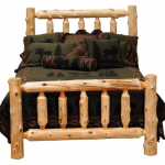 Queen Traditional Log Bed -Complete