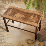 Scenic Bear Wood & Metal Bench