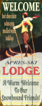 Ski Lodge Sign 17 x 44
