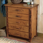 Moose Creek Log 5 Drawer Chest