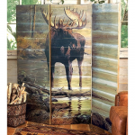 Quiet Water Moose Wall Screen