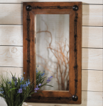 Old Ranch Barbed Wire Mirror