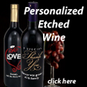 Personalized Etched Wine