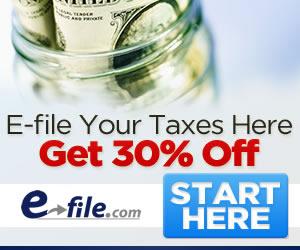 Save 30% at E-file.com