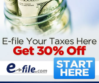 Save 30% at E-file.com