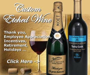 Corporate Etched Wine