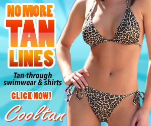 Cooltan Tan-Through Swimwear and Shirts