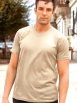 Mens Tan V-Neck Shirt