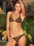 Gold Cheeta Halter Top Bikini