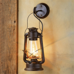 Large Rustic Lantern Wall Sconce