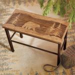 Scenic Bear Wood & Metal Bench