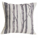Silver Mountain Printed Branches Pillow
