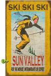 Ski Ski Ski Personalized Sign - 18 x 30