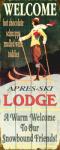 Ski Lodge Sign 17 x 44