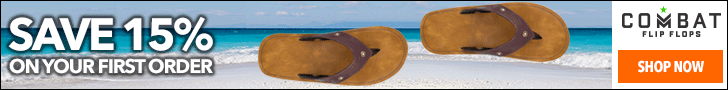 Combat Flip Flops - Save 15% on your first purchase