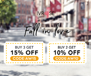 Fall in love, buy 2 get 10% off, buy 3 get 15% off sitewide,UP TO 90% OFF
