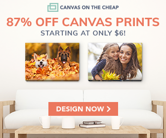 87% off canvas prints!